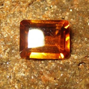 Batu Permata Citrine Orange Rectangular 1.82 carat