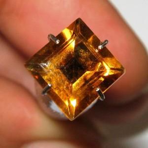 Batu Permata Natural Citrine Orange Kotak 1.78 carat