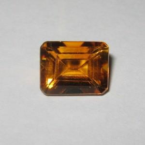 Batu Permta Citrine 2.36 carat Rectangular, Warna Orange