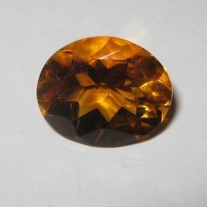 Orange Oval Citrine 3.16 carat