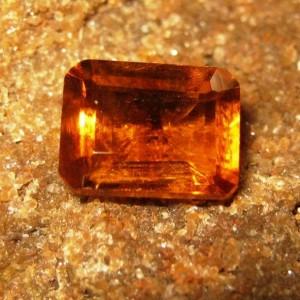 Batu Permata Orange Citrine Rectangular 1.81 carat