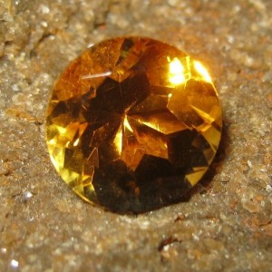 Batu Permata Natural Round Orange Citrine 2.93 carat