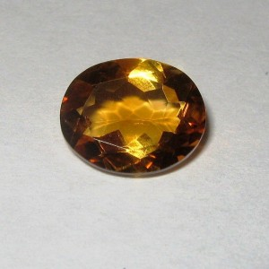 Batu Permata Citrine Orange Oval Cut 2.68 carat