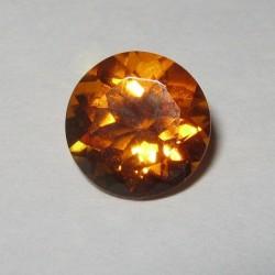 Batu Permata Citrine Orange Round Cut 2.53 carat