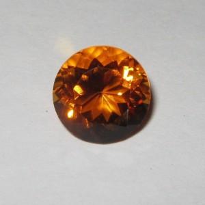 Orange Round Citrine 2.71 Carat Fire Luster