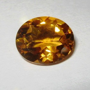 Batu Permata Natural Citrine Orange Oval 3.07 carat