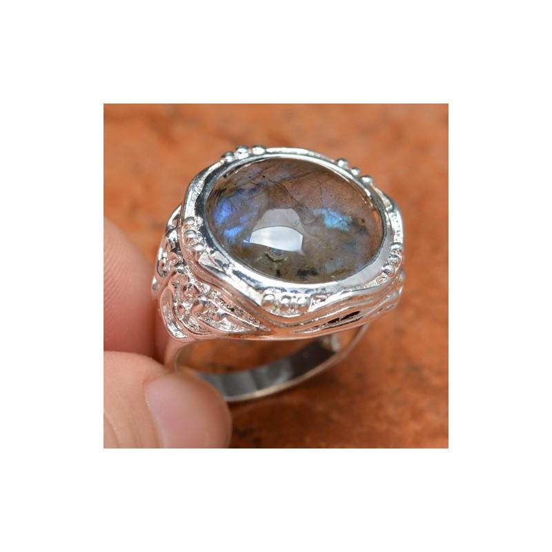 Cincin Batu Labradorit Untuk Pria Berwibawa