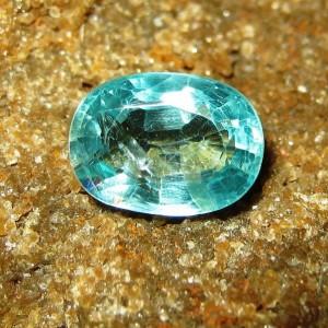 Batu Permata Natural Apatite Bluish Green 1.63 carat
