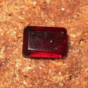 Rectangular Red Garnet 1.35 carat