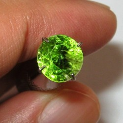 Yellowish Green Round Peridot 2.15 carat