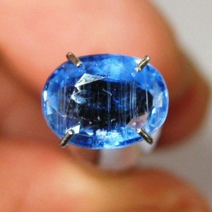 Kyanite Oval Blue 1.29 carat