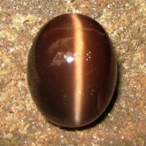 Batu Mulia Cats Eye Spectrolite 20.34 carat Oval Cab