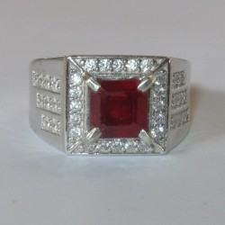 Gentleman's Blood Ruby Ring 8US