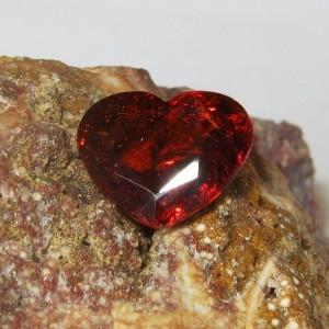 Orange Spessartite Garnet Heart 2.45 carat
