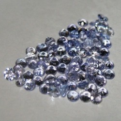 Tanzanite Round 2mm 80 pcs