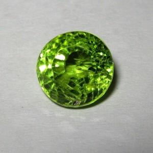 Green Round Natural Peridot 2.10 carat Rich Lsuter