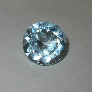 Round Sky Blue Topaz 4.60 carat Cahaya Luster Tajam