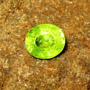 Yellowish Green Oval Cut Peridot 2.92 Carat