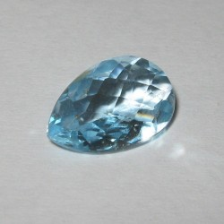 Permata Sky Blue Topaz 2.90 carat Pear Shape Facet