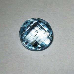 Batu Mulia Natural Sky Topaz Round Buff Top 2.35 carat