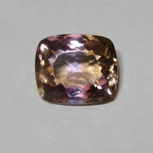 Batu Permata Ametrine 4.50 carat Cushion Cut