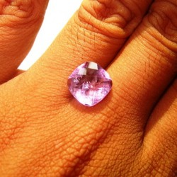 Cushion Checkboard Amethyst 4.50 carat