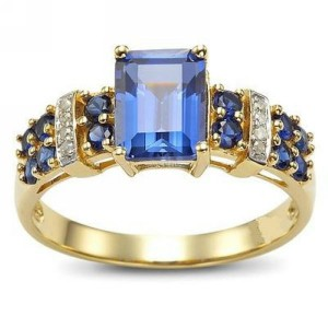 Fashion Ring Model Blue Sapphire Kotak