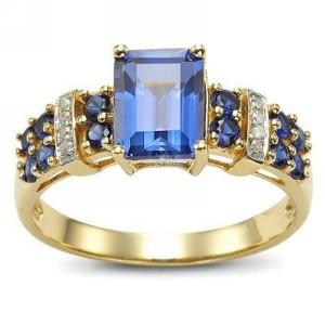 Fashion Ring Model Blue Sapphire Kotak