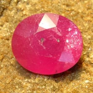 Batu Permata Pinkish Red Ruby 6.85 carat Oval Cut