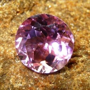 Batu Permaa Amethyst Ungu Medium 5.30 carat Round Cut