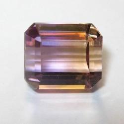 Batu Permata Ametrine Cushion Cut 3.50 carat VSI