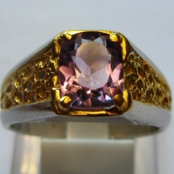 Solitaire Silver 925 Amethyst Ring 10US
