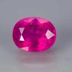 Pink Ruby 1.26 carat (tampak dari atas)