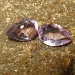 2 Pear Shape Amethyst 2.40 carat