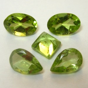Peridot Set 5 Pcs 2.1 carat