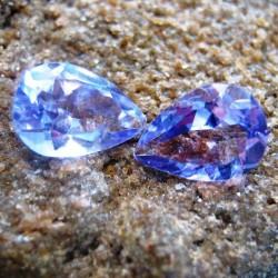 2 Pcs Pear Shape Amethyst 3.00 carat
