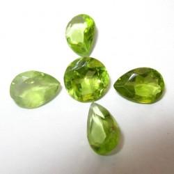 5 Pcs Batu Peridot 3.40 carat