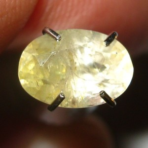Oval Light Yellow Sapphire 1.20 carat