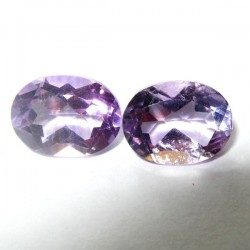 2 Pcs Oval Amethyst 2.25 carat