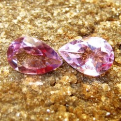 2 Pcs Pear Shape Amethyst 2.20 carat