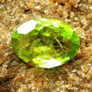 Greenish Oval Peridot 1.05 carat