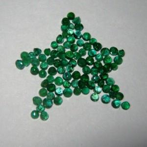 80 Pcs Micro Setting Emerald 1.5mm