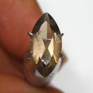 Batu Permata Smoky Quartz 1.60 carat Marquise Cut