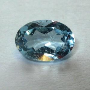 Batu Permata Natural Sky Blue Topaz Oval 0.95 carat