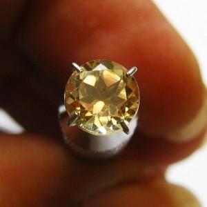 Citrine Bundar Kuning 1.15 carat