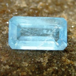 Sky Blue Aquamarine Rectangular 3.30 carat