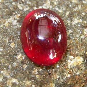 Batu Permata Pinkish Red Ruby Oval Cabochon 4.00 carat