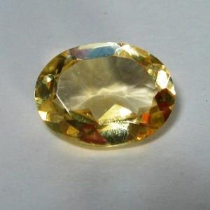 Batu Permata Citrine Alami Kuning Oval Cut 1.05 carat