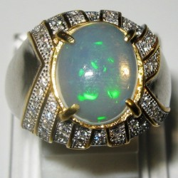 Cincin Opal Silver Ring 8US