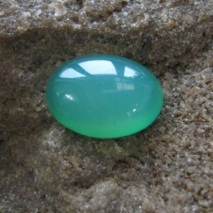 Green Oval Cab Calchedony 13.15 carat